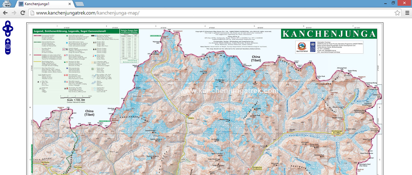 kanchenjunga map