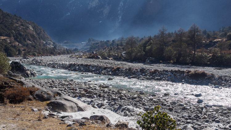 Ghunsa Khola River