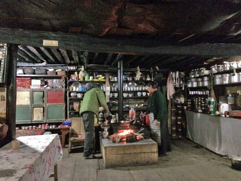 Kitchen in Kanchenjunga