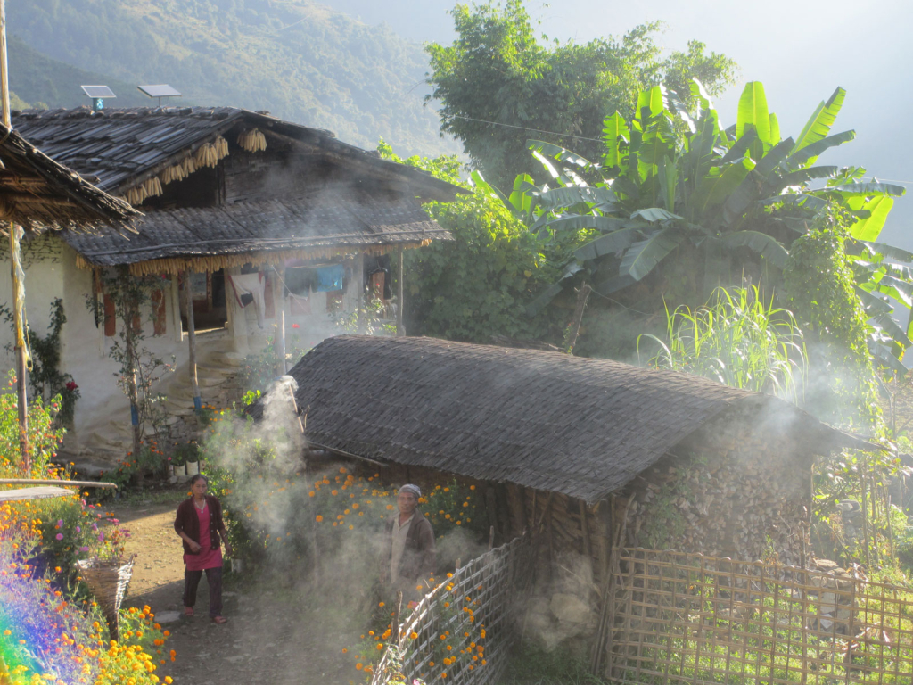 Local-village-in-morning