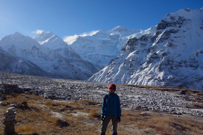 Me at North Kanchenjunga Base Camp (also known as Pang Pema).