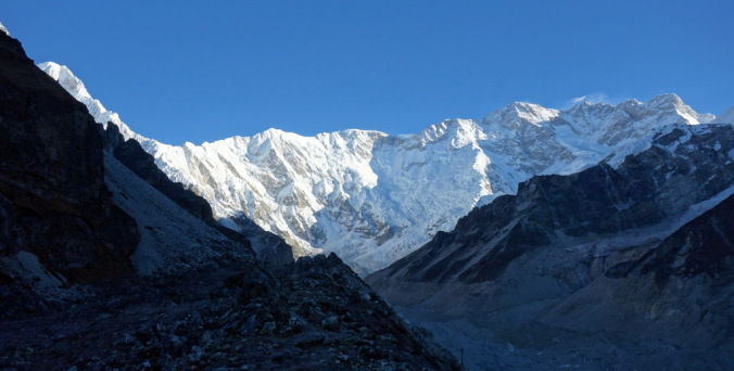 Mount Kanchenjunga, south view.