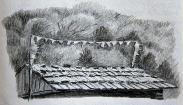 Painting of roof