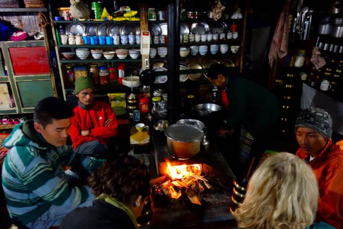 Tea house rest day Ghunsa