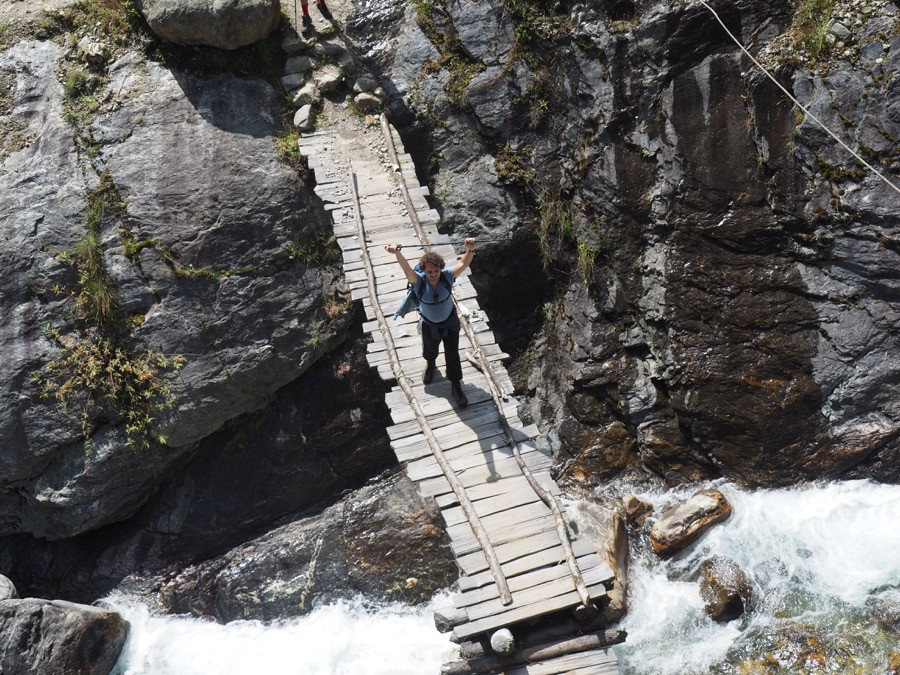 Wooden Bridge Kanchenjunga