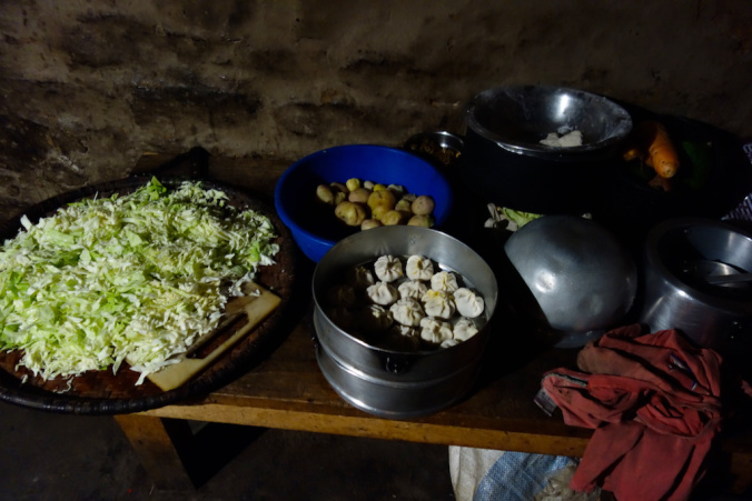local kitchen of kanchenjunga trek
