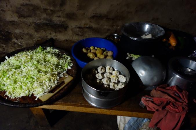 local kitchen of kanchenjunga trek