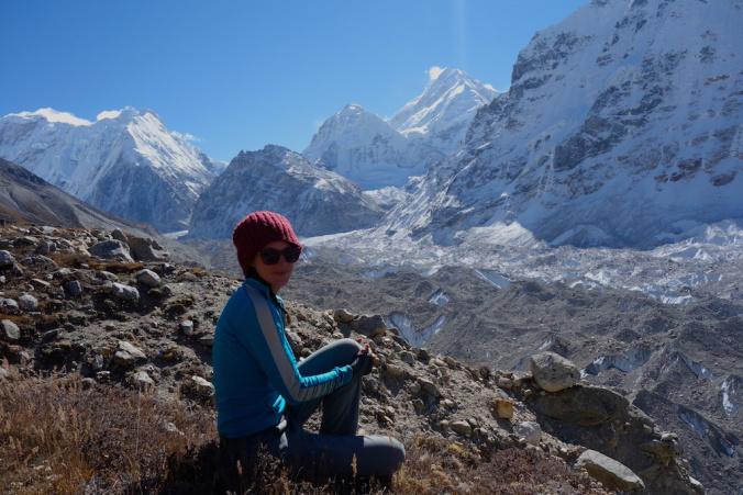 returning back from kanchenjunga north base camp